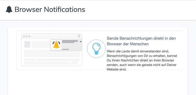 Builderall Browser Benachrichtigungen